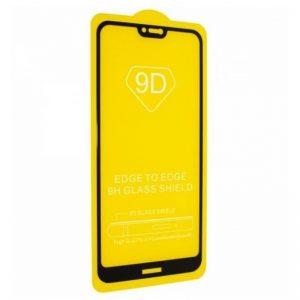 Защитное стекло 9D Full Glue Cover Glass на весь экран для Nokia 6.1 Plus / Nokia X6 – Black