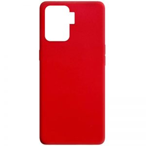 Матовый силиконовый TPU чехол для Oppo Reno 5 Lite – Красный