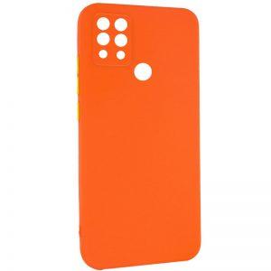 Чехол TPU Square Full Camera для Tecno Pova (LD7) – Оранжевый