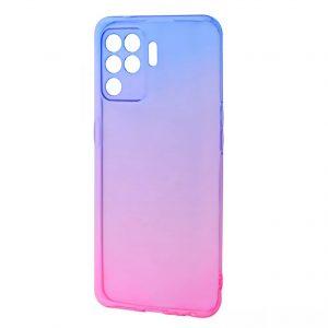 Чехол TPU Gradient Design для Oppo Reno 5 Lite – Blue / Pink