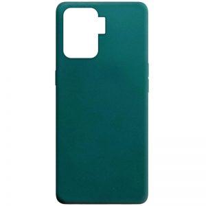 Матовый силиконовый TPU чехол для Oppo Reno 5 Lite – Зеленый / Forest green