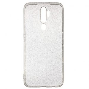 Прозрачный силиконовый чехол Shine для Oppo A5 (2020) / A9 (2020) – Gold