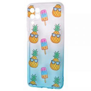 Чехол WAVE Sweet Acid Case для Samsung Galaxy A22 / M32  – White / Turquoise / Pineapple