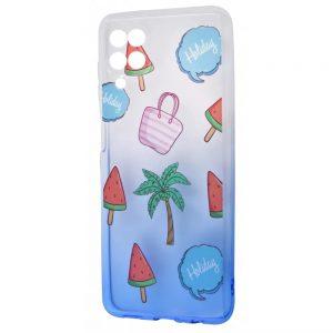 Чехол WAVE Sweet Acid Case для Samsung Galaxy A22 / M32  – White / Blue / Palm