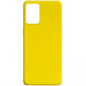 Матовый силиконовый TPU чехол для Oppo A74 – Желтый