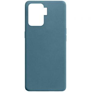 Матовый силиконовый TPU чехол для Oppo Reno 5 Lite – Синий / Powder Blue