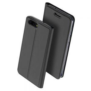 Чехол-книжка Dux Ducis с карманом для Asus Zenfone 4 — Серый