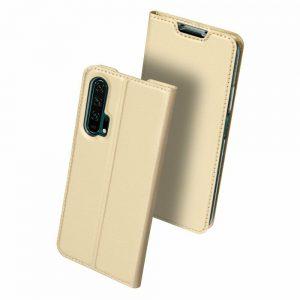 Чехол-книжка Dux Ducis с карманом для Huawei Honor 20 Pro — Золотой