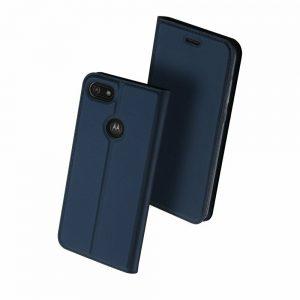 Чехол-книжка Dux Ducis с карманом для Motorola Moto E6 Play — Синий
