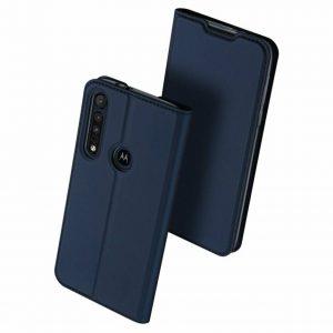 Чехол-книжка Dux Ducis с карманом для Motorola One Macro / Moto G8 Play — Синий
