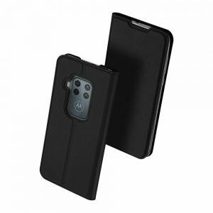 Чехол-книжка Dux Ducis с карманом для Motorola One Zoom / P40 Note — Черный