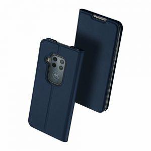 Чехол-книжка Dux Ducis с карманом для Motorola One Zoom / P40 Note — Синий