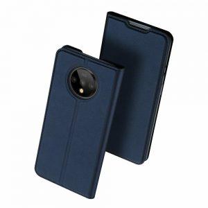 Чехол-книжка Dux Ducis с карманом для OnePlus 7T — Синий