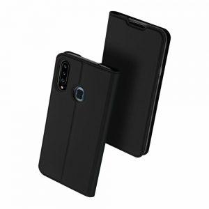 Чехол-книжка Dux Ducis с карманом для Samsung Galaxy A20s 2019 (A207) — Черный