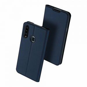 Чехол-книжка Dux Ducis с карманом для Samsung Galaxy A20s 2019 (A207) — Синий