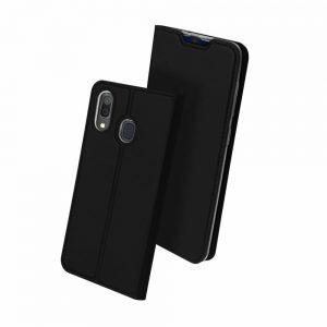 Чехол-книжка Dux Ducis с карманом для Samsung Galaxy A20 / A30 — Черный