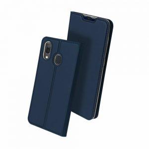 Чехол-книжка Dux Ducis с карманом для Samsung Galaxy A20 / A30 — Синий