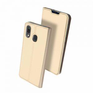 Чехол-книжка Dux Ducis с карманом для Samsung Galaxy A20 / A30 — Золотой