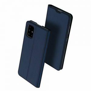 Чехол-книжка Dux Ducis с карманом для Samsung Galaxy A71 — Синий