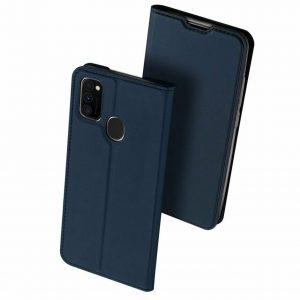 Чехол-книжка Dux Ducis с карманом для Samsung Galaxy M30s / M21 — Синий