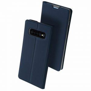Чехол-книжка Dux Ducis с карманом для Samsung Galaxy S10 (G973) — Синий