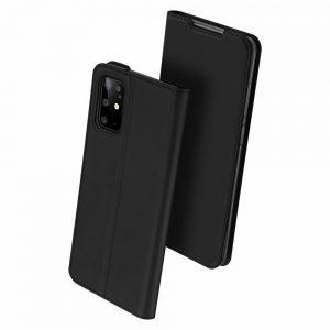 Чехол-книжка Dux Ducis с карманом для Samsung Galaxy S20 Plus — Черный