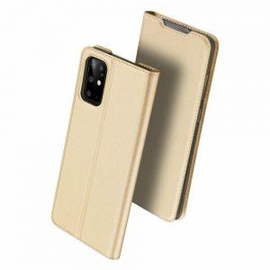 Чехол-книжка Dux Ducis с карманом для Samsung Galaxy S20 Plus — Золотой