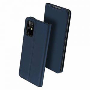 Чехол-книжка Dux Ducis с карманом для Samsung Galaxy S20 Plus — Синий
