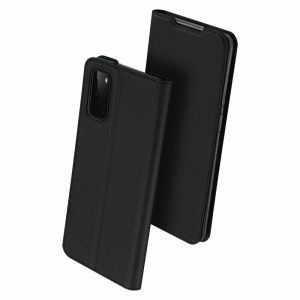 Чехол-книжка Dux Ducis с карманом для Samsung Galaxy S20 — Черный