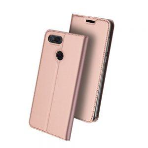 Чехол-книжка Dux Ducis с карманом для Xiaomi Mi 8 Lite / Mi 8 Youth — Rose Gold