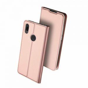 Чехол-книжка Dux Ducis с карманом для Xiaomi Redmi Note 7 / 7 Pro — Rose Gold
