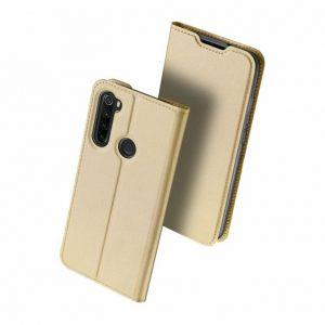 Чехол-книжка Dux Ducis с карманом для Xiaomi Redmi Note 8 — Золотой