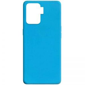 Матовый силиконовый TPU чехол для Oppo Reno 5 Lite – Голубой