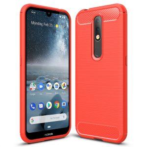 Cиликоновый TPU чехол Slim Series для Nokia 4.2 – Красный