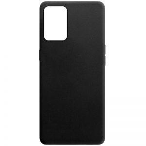 Матовый силиконовый TPU чехол для Oppo A74 – Черный