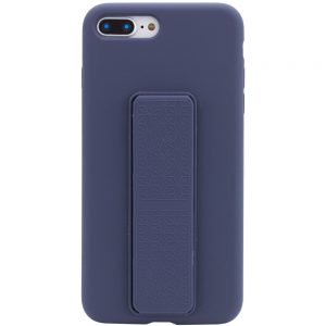 Чехол Silicone Case Hand Holder с микрофиброй для Iphone 7 Plus / 8 Plus – Темно-синий / Midnight blue
