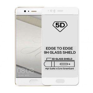 Защитное стекло 5D Full Glue Cover Glass на весь экран для Huawei P10 Plus – White
