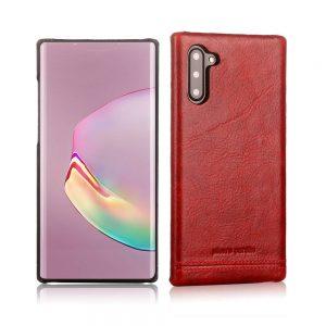 Чехол с натуральной кожи Pierre Cardin для Samsung Galaxy Note 10 (N970) – Красный