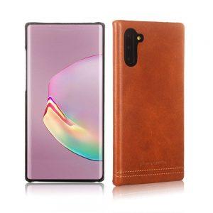 Чехол с натуральной кожи Pierre Cardin для Samsung Galaxy Note 10 (N970) – Светло-коричневый