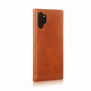 Чехол с натуральной кожи Pierre Cardin для Samsung Galaxy Note 10 Plus (N975) – Светло-коричневый