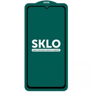 Защитное стекло 3D (5D) Perfect Glass Full Glue SKLO на весь экран для Samsung Galaxy A22 / M32 – Black