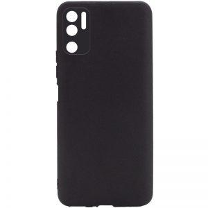 Матовый силиконовый чехол с защитой камеры для Xiaomi Redmi Note 10 5G / Poco M3 Pro – Черный / Black