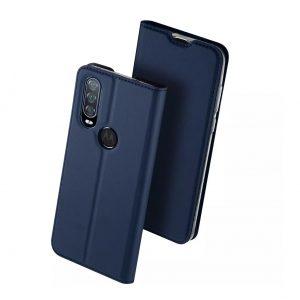 Чехол-книжка Dux Ducis с карманом для Motorola One Action — Синий