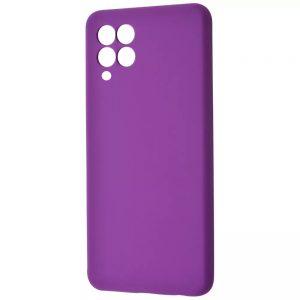 Чехол Silicone Case WAVE Full с микрофиброй для Samsung Galaxy A22 / M32 – Dark purple