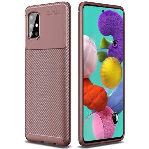 Силиконовый чехол Kaisy Series для Samsung Galaxy A71 – Brown