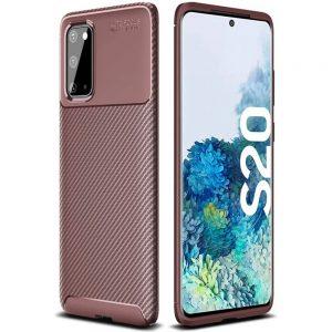 Силиконовый чехол Kaisy Series для Samsung Galaxy S20 – Brown