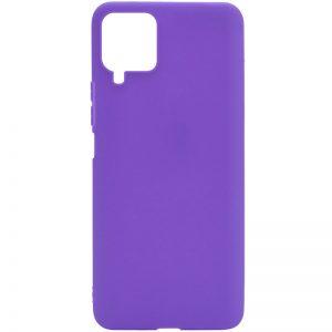 Матовый силиконовый TPU чехол для Samsung Galaxy A22 / M32 – Сиреневый