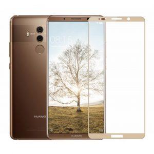 Защитное стекло 2.5D (3D) Full Cover на весь экран для Huawei Mate 10 Pro – Gold