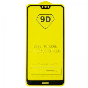 Защитное стекло 9D Full Glue Cover Glass на весь экран для Nokia 7.1 – Black