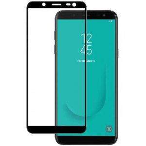 Защитное стекло 3D (5D) Perfect Glass HD+ на весь экран для Samsung Galaxy J6 2018 (J600) — Black